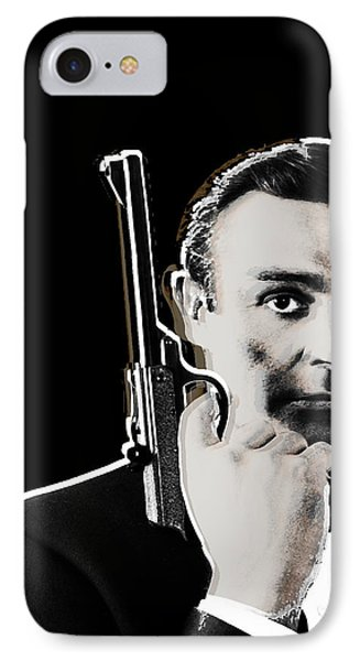 Sean Connery James Bond Vertical Phone Case by Tony Rubino