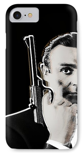 Sean Connery James Bond Vertical IPhone Case by Tony Rubino