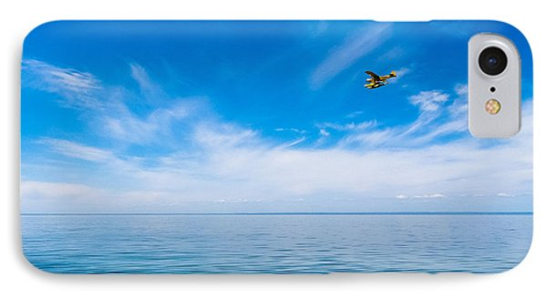 Seaplane Over Lake Superior   IPhone Case by Lars Lentz