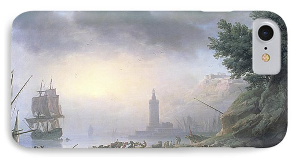 Seaport At Dawn, 1751 IPhone Case