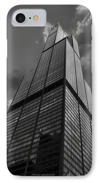Sears Willis Tower Black And White 01 Phone Case by Thomas Woolworth