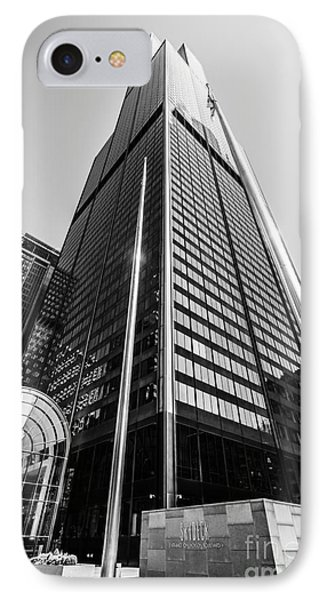 Sears Willis Tower Chicago Black And White Picture IPhone Case
