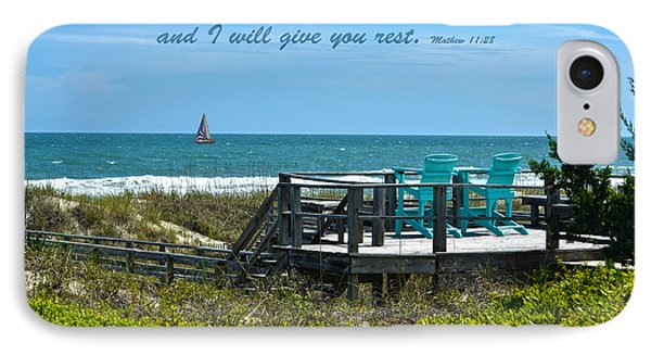 Seascape And Scripture Phone Case by Sandi OReilly