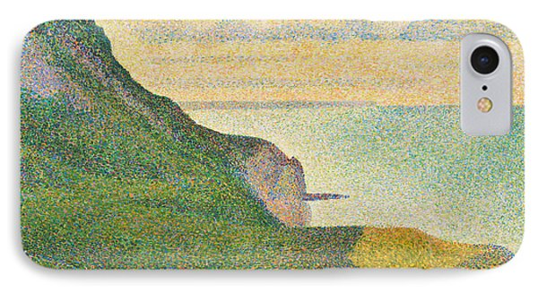 Seascape At Port En Bessin Normandy Phone Case by Georges Seurat
