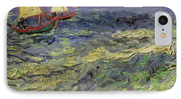 Seascape At Saintes-maries 1888 Phone Case by Vincent van Gogh