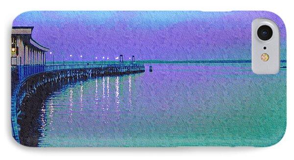 Painterly Seascape Purple Flurry IPhone Case