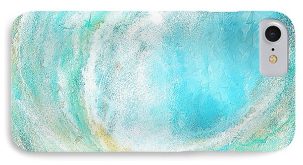 Seascapes Abstract Art - Mesmerized IPhone Case by Lourry Legarde