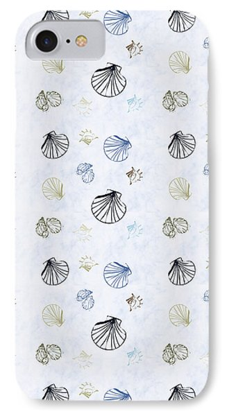 Seashell Pattern IPhone Case by Christina Rollo