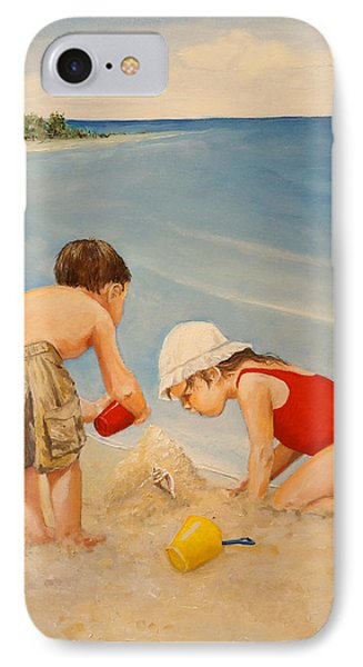 IPhone Case featuring the painting Seashell Sand And A Solo Cup by Alan Lakin