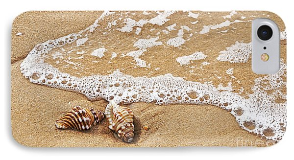 Seashells And Lace Phone Case by Kaye Menner