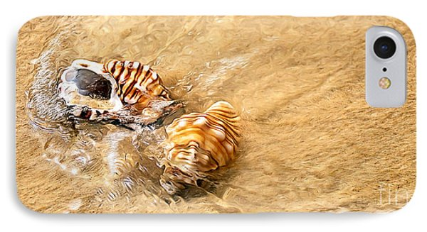 Seashells And Ripples Phone Case by Kaye Menner
