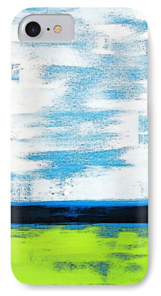 Seaside - Abstract Modern Art By Sharon Cummings IPhone Case by Sharon Cummings