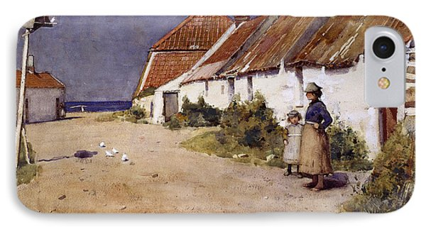 Seaside Cottages With Dovecot IPhone 7 Case by Edward Arthur Walton