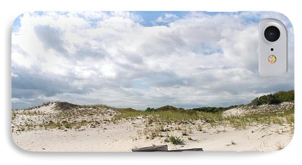 IPhone Case featuring the photograph Seaside Driftwood And Dunes by Pamela Hyde Wilson