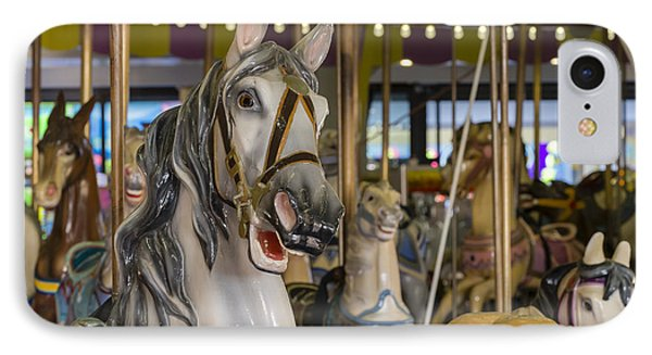 Seaside Heights Casino Carousel  IPhone Case by Susan Candelario