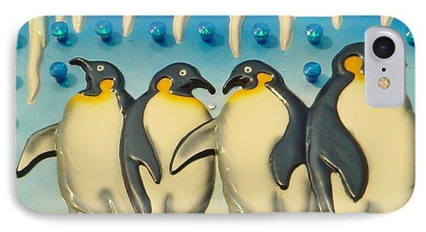 Seaside Funtown Penguins IPhone Case by Lyric Lucas