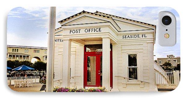 Seaside Post Office IPhone Case by Scott Pellegrin