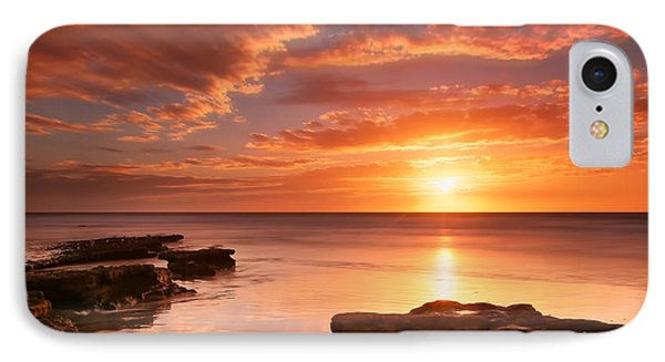Seaside Reef Sunset 15 IPhone Case by Larry Marshall
