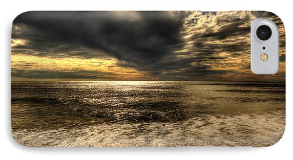 IPhone Case featuring the photograph Seaside Sundown With Dramatic Sky by Julis Simo