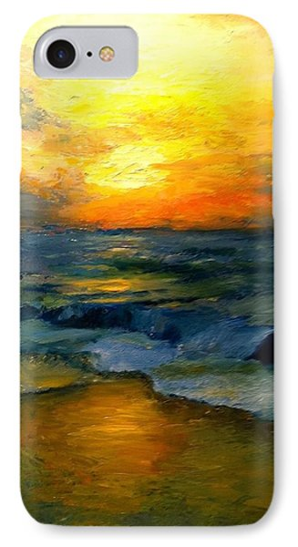 Seaside Sunset IPhone Case by Gail Kirtz