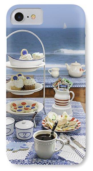 Seaside Tea Party IPhone Case by Karen Stephenson