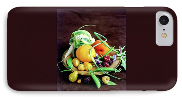 Seasonal Fruit And Vegetables IPhone 7 Case by Romulo Yanes