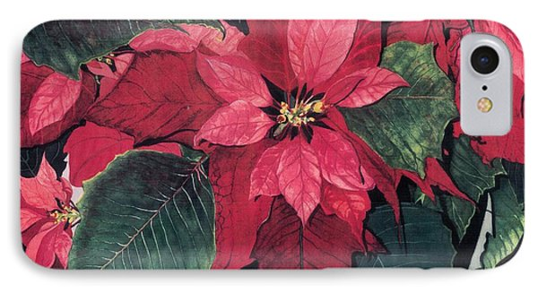 IPhone Case featuring the painting Seasonal Scarlet 2 by Barbara Jewell