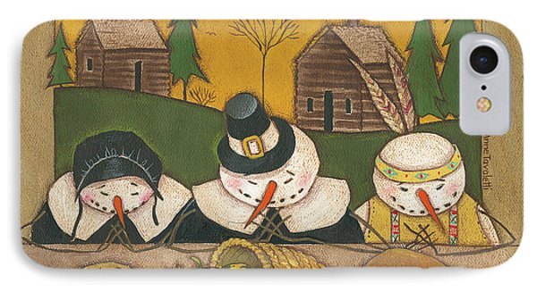 Seasonal Snowman Xi IPhone Case by Anne Tavoletti