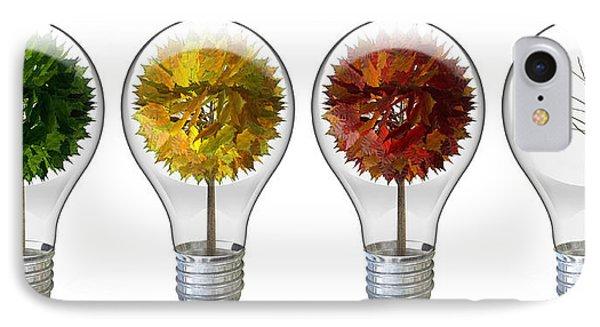Seasoned Light Bulbs IPhone Case by Allan Swart