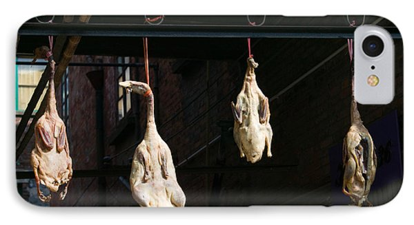 Seasoning Peking Ducks Hanging For Sale IPhone Case by Panoramic Images