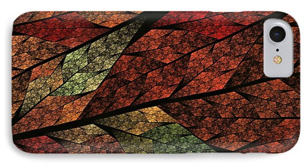 Seasons Change Stained Glass-2 IPhone Case by Doug Morgan