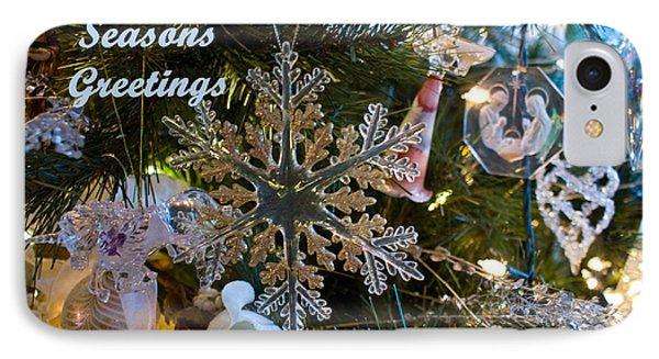 Seasons Greetings Card 2 IPhone Case by Joanne Smoley