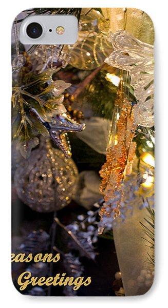 Seasons Greetings Card IPhone Case by Joanne Smoley