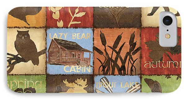 Seasons Lodge IPhone Case by Debbie DeWitt