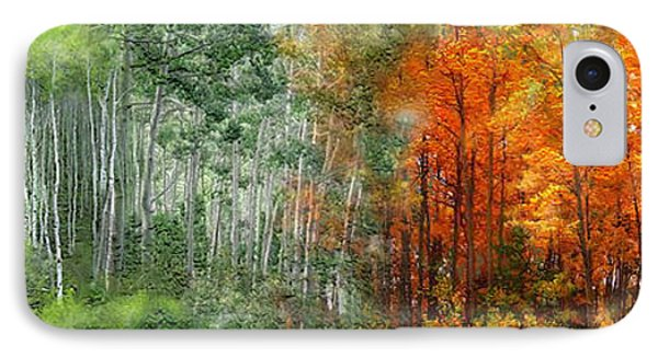 Seasons Of The Aspen Phone Case by Carol Cavalaris