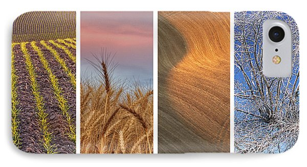 Seasons Of The Palouse IPhone Case by Latah Trail Foundation