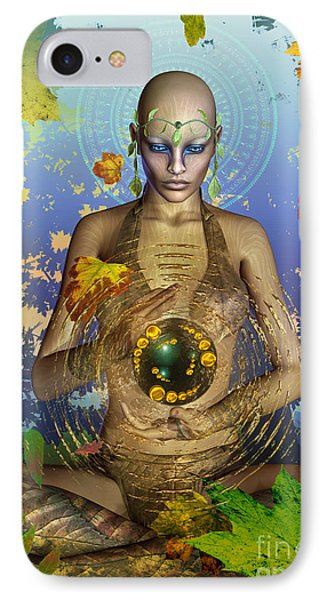 IPhone Case featuring the digital art Seasons Of The Soul by Shadowlea Is