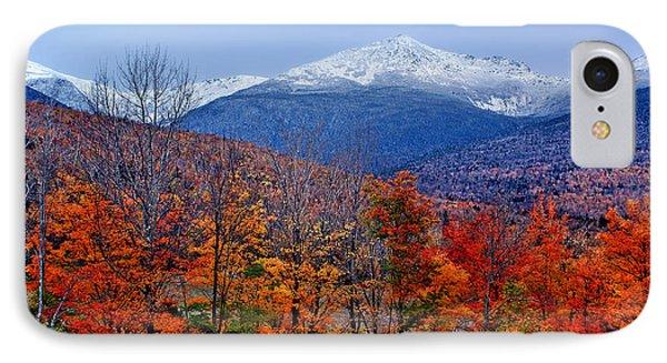 Seasons' Shift #2 - Mount Washington - White Mountains IPhone Case by Nikolyn McDonald