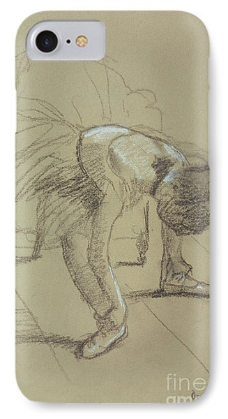 Seated Dancer Adjusting Her Shoes IPhone Case