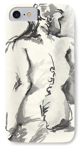 Seated Nude IPhone Case by Melinda Dare Benfield