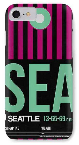 Seattle Airport Poster 4 IPhone Case