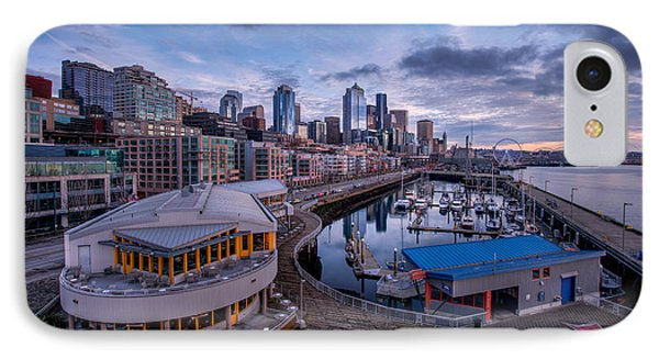 Seattle Bell Street Pier Phone Case by Dan Mihai