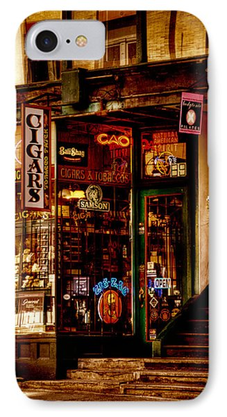 Seattle Cigar Shop IPhone Case by David Patterson