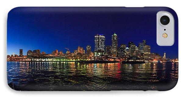 Seattle City Skyline Romance IPhone Case by Scott Campbell