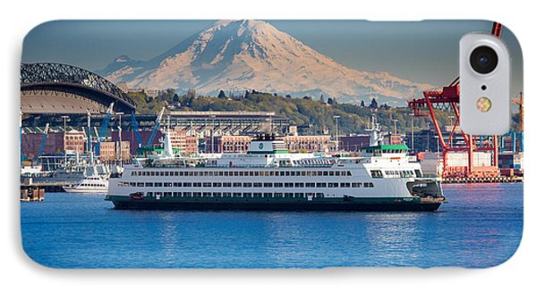 Seattle Harbor IPhone Case by Inge Johnsson