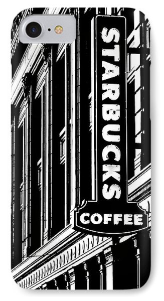 Seattle Icon Black And White IPhone Case by Benjamin Yeager