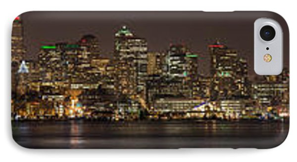 Seattle Lake Union Winter Reflection IPhone Case by Mike Reid