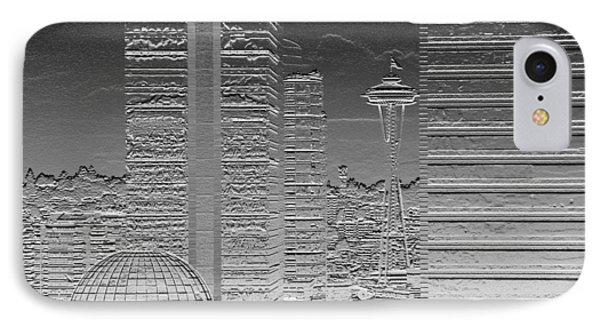 Seattle Landscape Chrome IPhone Case