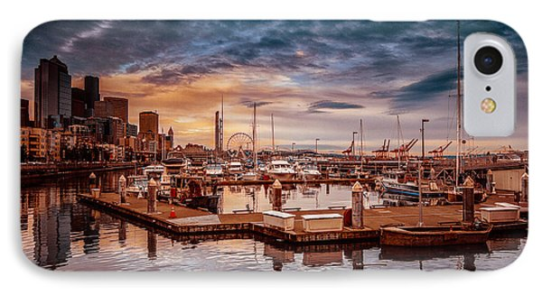 Seattle Marinescape. IPhone Case by Eti Reid