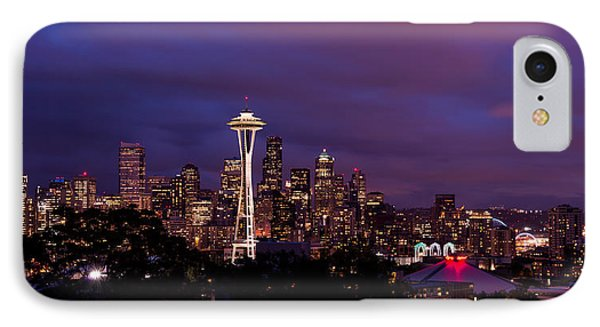 Seattle Night IPhone 7 Case by Chad Dutson